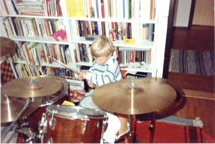Erik on drums